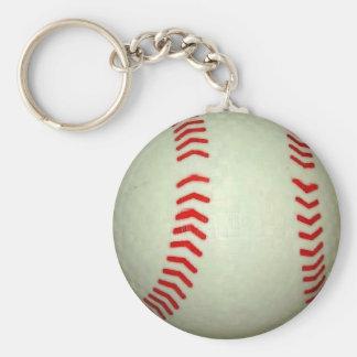 Baseball Ball Basic Round Button Keychain
