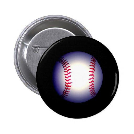 Baseball Ball Pinback Buttons