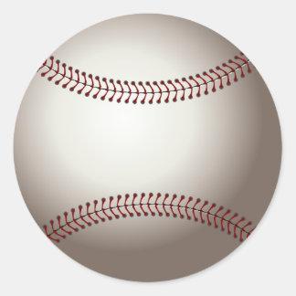 baseball (ball) classic round sticker