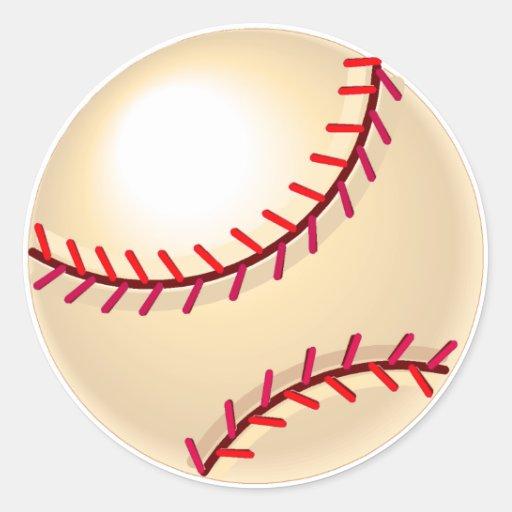 Baseball Ball Classic Round Sticker