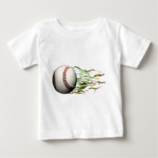 Baseball Ball Flames Major League Team Infant T-shirt