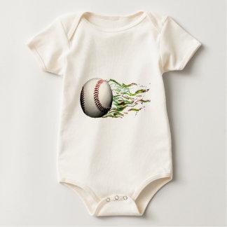 Baseball Ball Flames Major League Team Baby Bodysuits