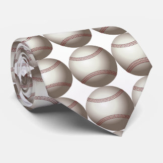 baseball ball for baseball fun. White background Tie