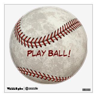 """Baseball Ball Game """"Play Ball!"""" American Past-time Wall Decal"""