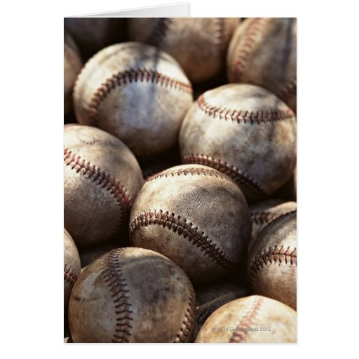 Baseball Ball Greeting Cards