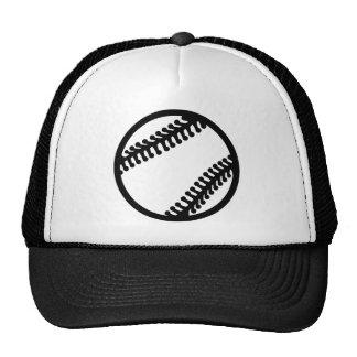 Baseball ball mesh hat