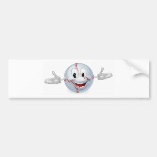 Baseball Ball Man Bumper Sticker