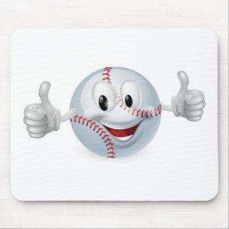 Baseball Ball Mascot Mouse Mat