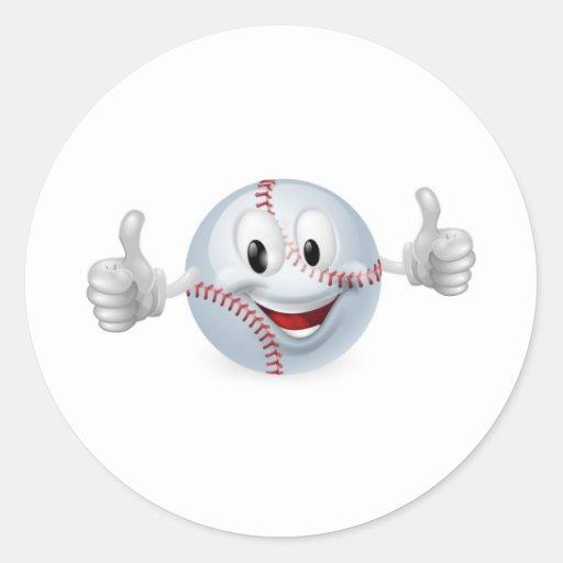 Baseball Ball Mascot Sticker
