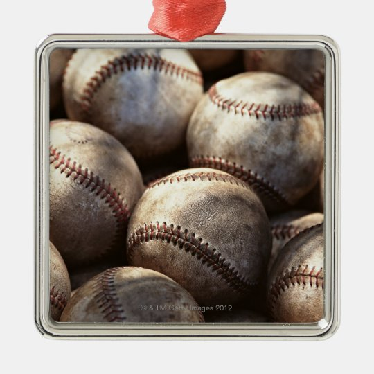 Baseball Ball Metal Ornament