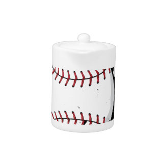 Baseball Ball on Background with Rays4 Teapot