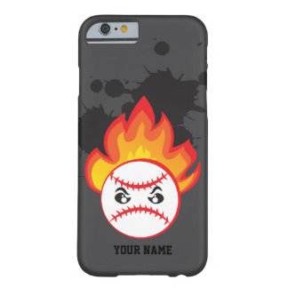Baseball ball on fire barely there iPhone 6 case
