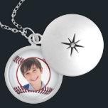 """baseball  ball photo frame necklace<br><div class=""""desc"""">baseball  ball photo frame. Custom elegant Necklaces</div>"""