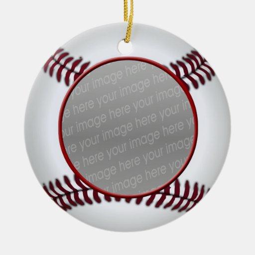 baseball ball photo ornament