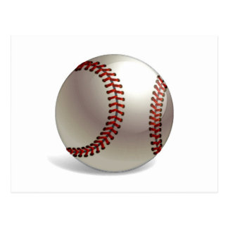 Baseball Ball Postcard
