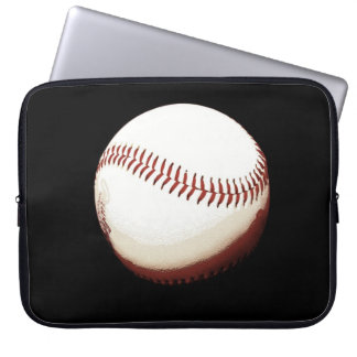 baseball ball - poster style -laptop bag laptop computer sleeve