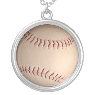 baseball  ball round pendant necklace