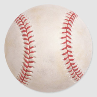 Baseball Ball Round Sticker