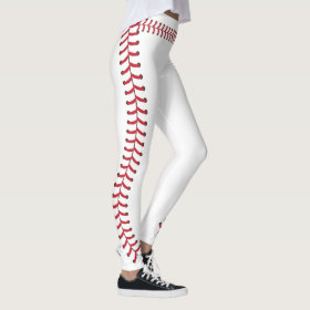 Baseball ball Seam Stitches Pattern Leggings