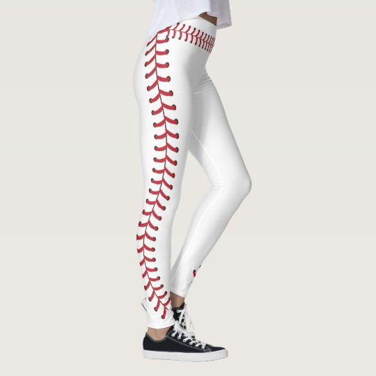 ball joint tights. baseball ball seam stitches pattern leggings joint tights