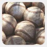 Baseball Ball Square Sticker
