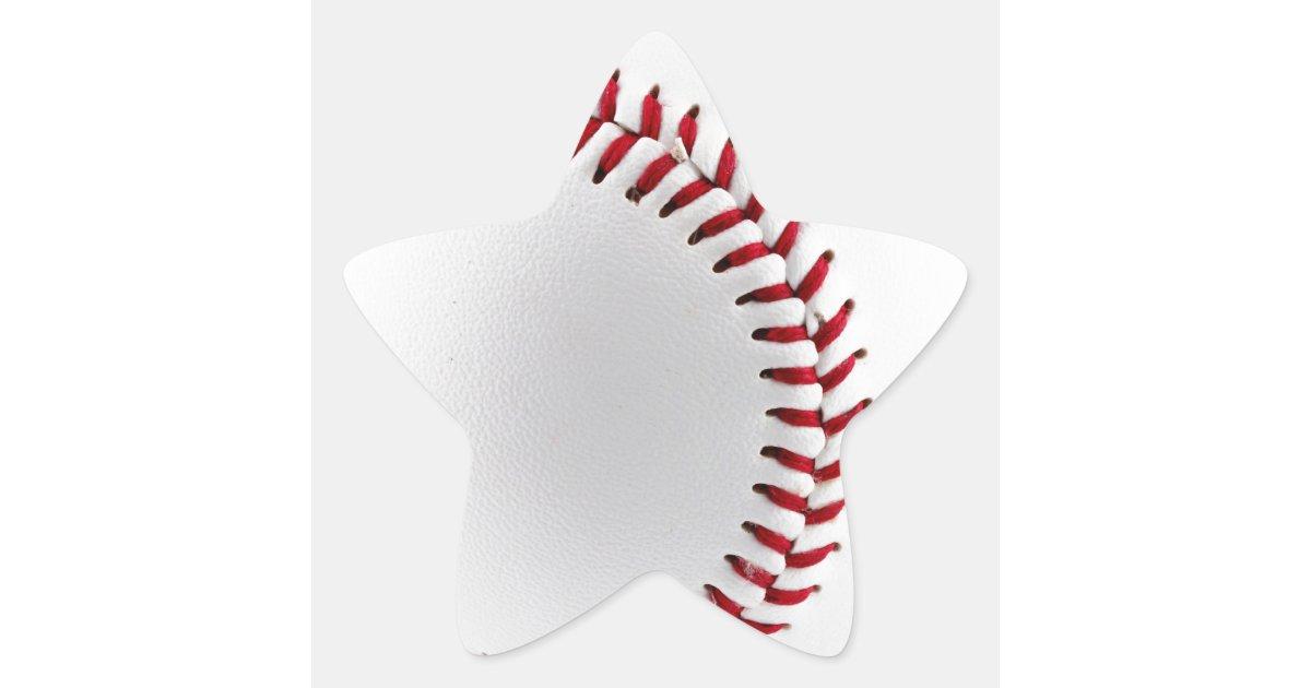 Baseball ball star sticker | Zazzle