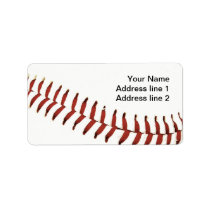 baseball ball stitching address label