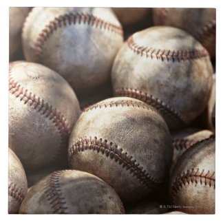 Baseball Ball Large Square Tile