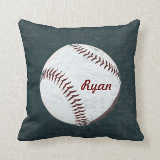 Baseball ball - vintage styled throw pillow