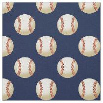 baseball balls on blue, pattern fabric