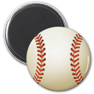 Baseball Balls Sports Pattern 2 Inch Round Magnet