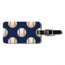 Baseball Balls Sports Pattern Bag Tag