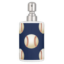 Baseball Balls Sports Pattern Bathroom Set