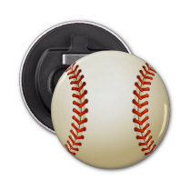 Baseball Balls Sports Pattern Bottle Opener