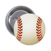 Baseball Balls Sports Pattern Button