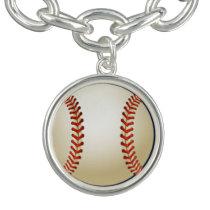 Baseball Balls Sports Pattern Charm Bracelets