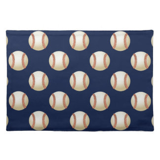 Baseball Balls Sports Pattern Cloth Placemat