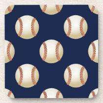 Baseball Balls Sports Pattern Coaster