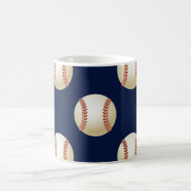 Baseball Balls Sports Pattern Coffee Mug
