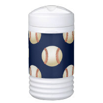Baseball Balls Sports Pattern Cooler