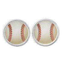 Baseball Balls Sports pattern Cufflinks