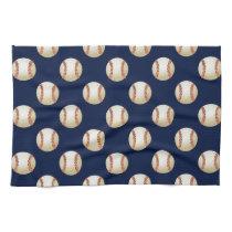 Baseball Balls Sports Pattern Hand Towels