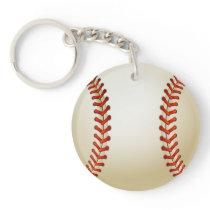 Baseball Balls Sports Pattern Keychain