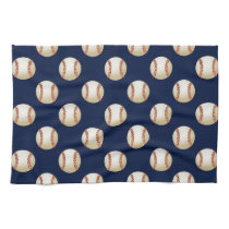 Baseball Balls Sports Pattern Kitchen Towel