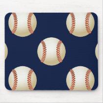 Baseball Balls Sports Pattern Mouse Pad