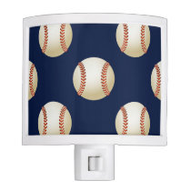 Baseball Balls Sports Pattern Night Light