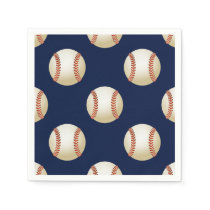 Baseball Balls Sports Pattern Paper Napkin