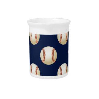 Baseball Balls Sports Pattern Beverage Pitchers
