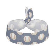 Baseball Balls Sports Pattern Ribbon Hair Tie