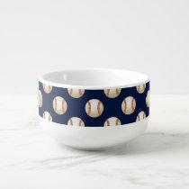 Baseball Balls Sports Pattern Soup Mug